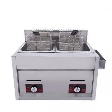 Commercial Kitchen Snacks Food Double Cylinder Gas Deep Fryer (HGF-70A-1)